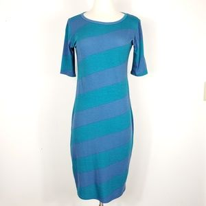 LulaRoe sheath Striped Julia short sleeve dress